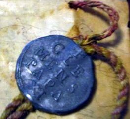 Bolla papale Sigillo pendente
