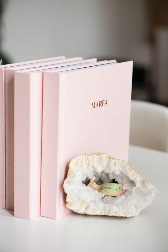 layflat photo books + gold foil titles