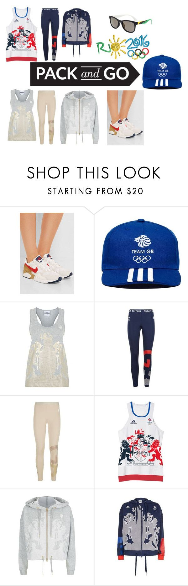 """""""Rio Team GB"""" by poppys-crafts ❤ liked on Polyvore featuring NIKE, adidas, adidas Originals and rio"""