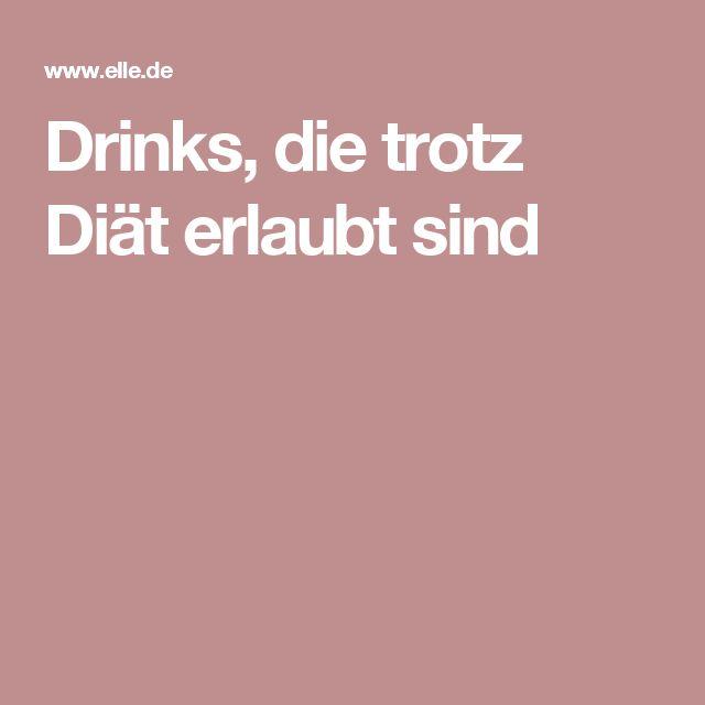 Drinks, die trotz Diät erlaubt sind