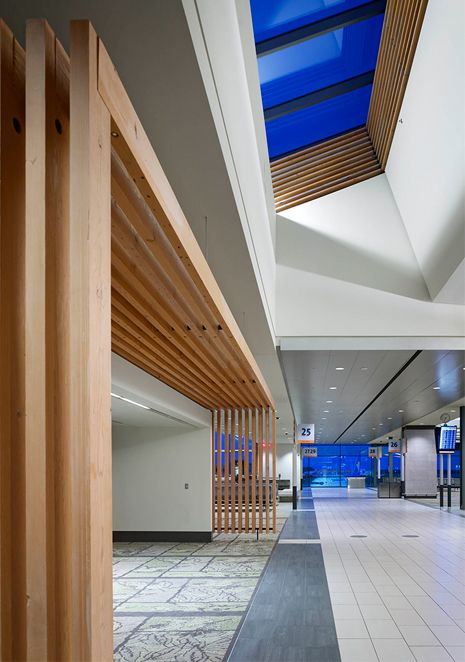 Michael led the design of Ottawa Airport Phase 2 as Project Principal at his predecessor firm. In this second phase of the airport's expansion, a heavy timber structure was introduced which was reclaimed from a demolished WWII aircraft hangar previously on the airport property. The wood structure complements the existing building palette and connects the …