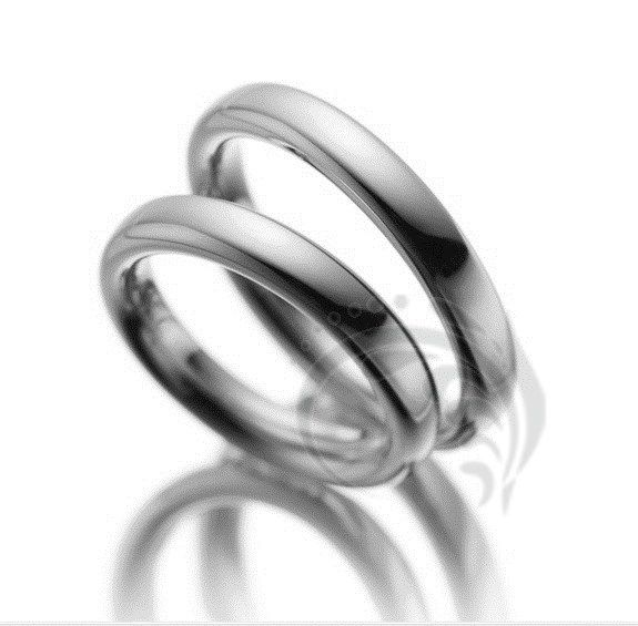 Traditional Dome Style 4mm Matching Polished Wedding Bands