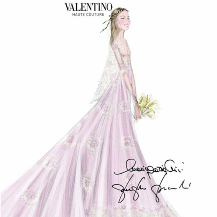 Wedding Dress by Valentino // Beatrice Borromeo Wedding