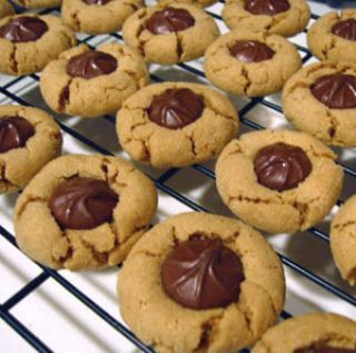 Peanut Blossom Cookies, by :: from The Lubich Family Cookbook, is from Fabulous Family Cookie Recipes, one of the cookbooks created at FamilyCookbookProject.com.