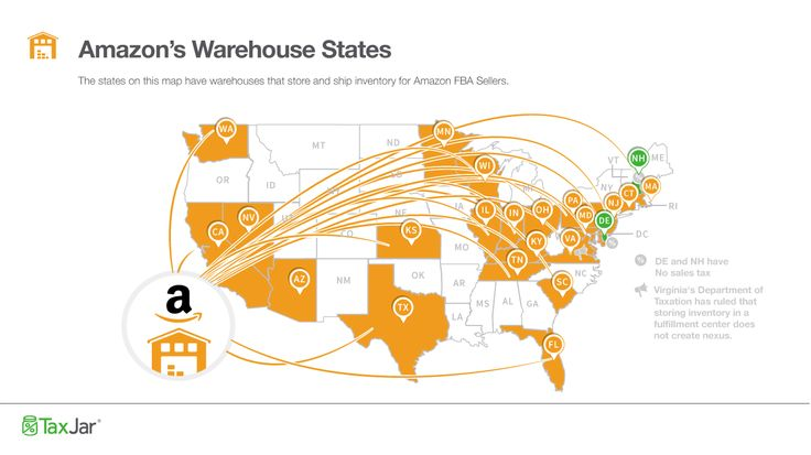 Amazon has opened new fulfillment centers in four new states over the last couple of months. Find out what this means for Amazon FBA sellers and sales tax.