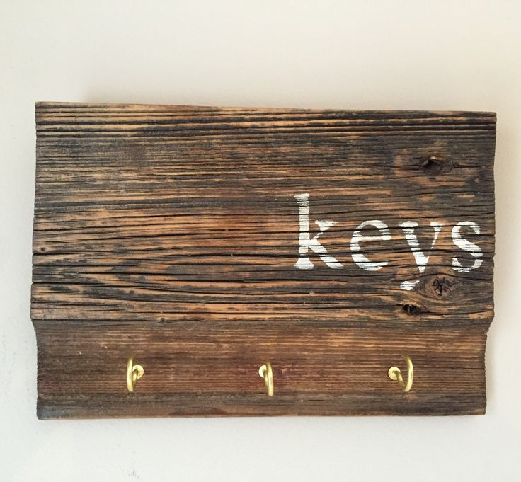 Key Holder, Rustic Wood Sign Key Holder, Key Holder for Wall, Key Hook Rack, Key Hanger, Key Hook, Reclaimed Wood, Hooks for Keys by FallenTimberCrafts on Etsy https://www.etsy.com/listing/273204892/key-holder-rustic-wood-sign-key-holder