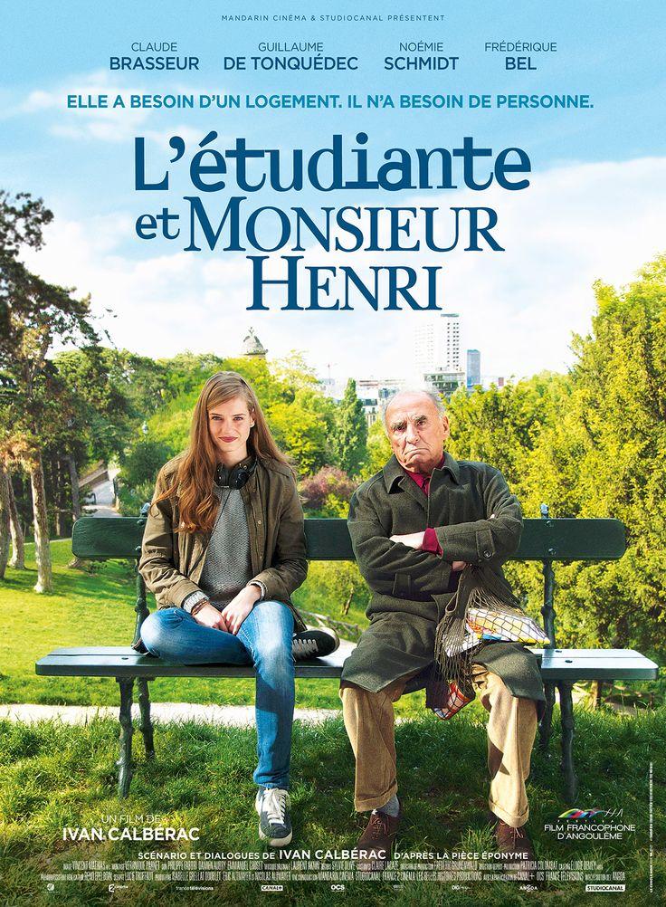 L'Etudiante et Monsieur Henri est un film de Ivan Calbérac avec Claude Brasseur, Guillaume De Tonquédec. Synopsis : A cause de sa santé vacillante, Monsieur Henri ne peut plus vivre seul dans son appartement parisien. Particulièrement bougon, il finit néanmoins par