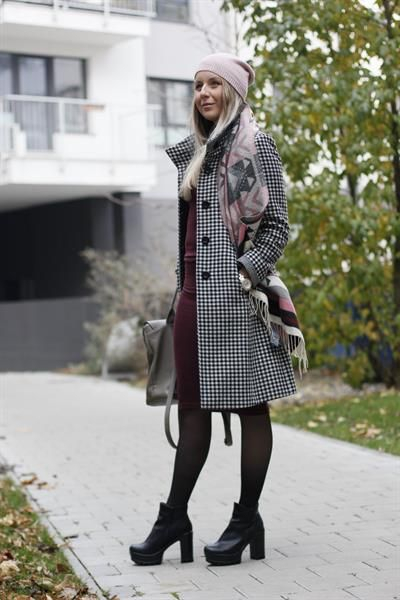 Burgundy goes perfect with black. What do you think? Find products from this look on styilo.com