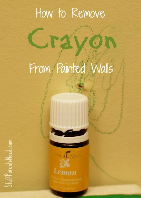 Who knew that lemon essential oil could take crayon off painted walls, without removing the paint, as well? LOVE this stuff!
