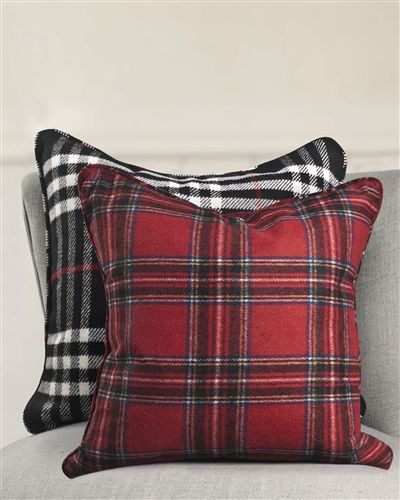 Plaid Wool Pillow | Balsam Hill #MyBalsamHillHome