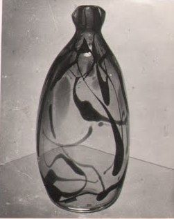 Lubomir Blecha, the glass vase with a tickle feelings under the skin, glassworks Skrdlovice, 1960, H: 38,0 cm, photo: Jindrich Brok