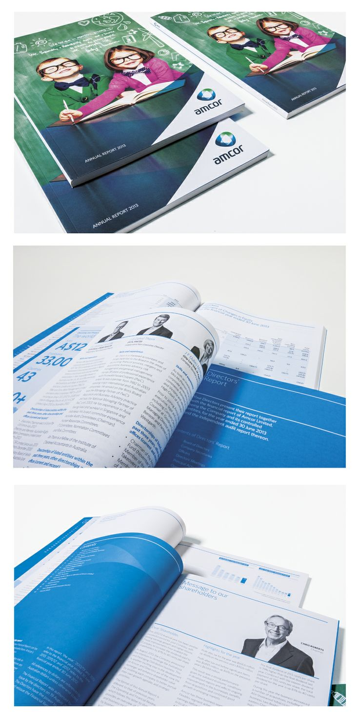 Agency: Wellmark | Client: Amcor | Annual Report 2013