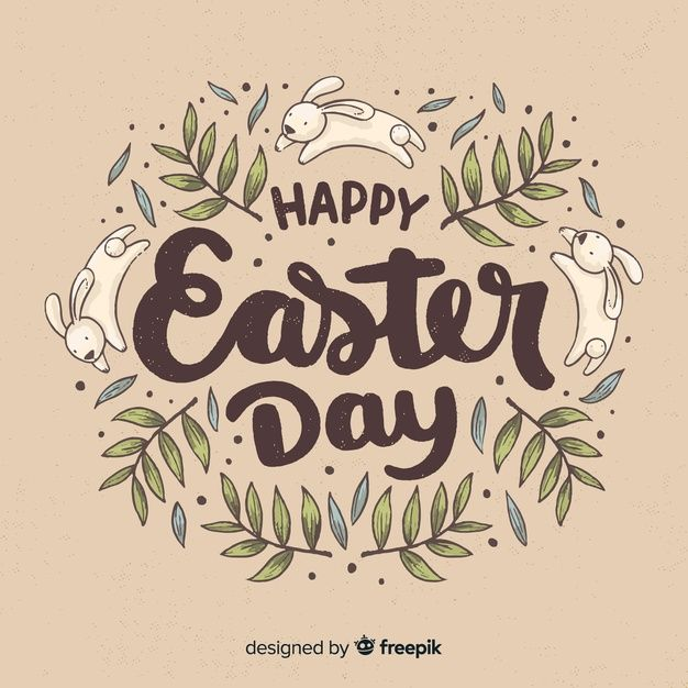 Lettering easter background Free Vector