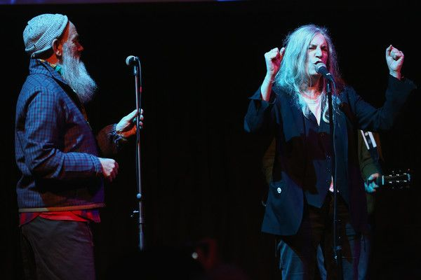 Patti Smith Photos Photos - Michael Stipe and Patti Smith performs at The Anthology Film Archives Benefit and Auction on March 2, 2017 in New York City. - The Anthology Film Archives Benefit and Auction