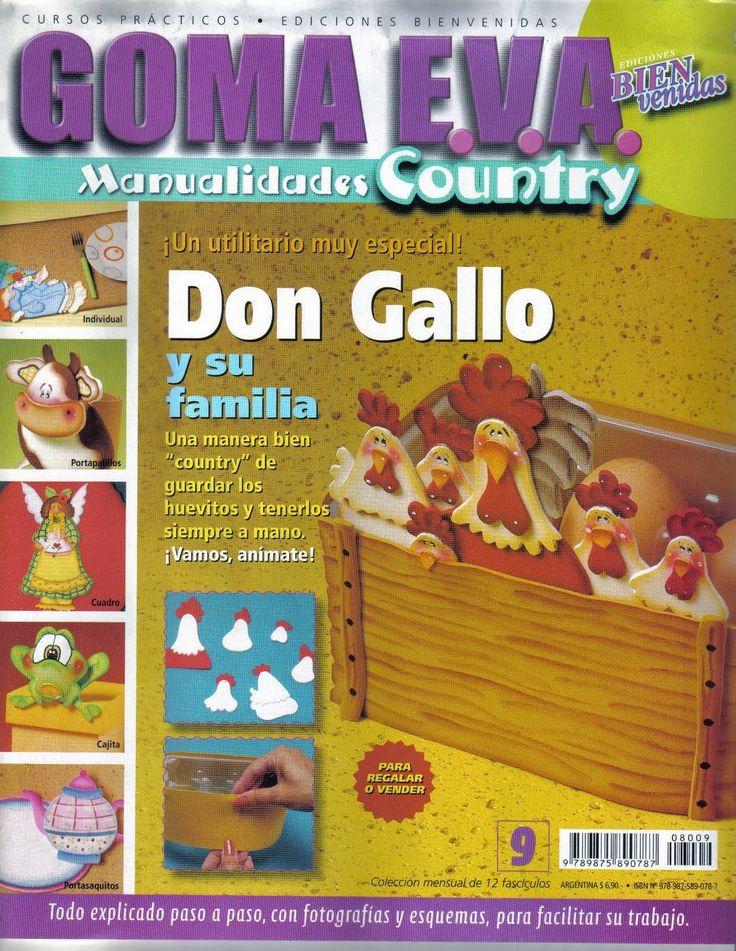 Revistas de manualidades Gratis: Manualidades en Goma Eva - Country