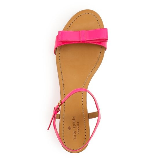 pink patent leather sandals from kate spade new york: Fashion Shoes, Spade Sandals, Pink Bows, Hot Pink, Leather Sandals, Girls Shoes, Pink Patent, Kate Spade, Katespade