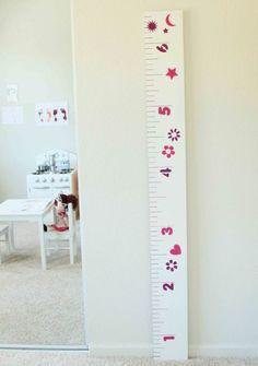 Régua de crescimento também serve para divertir os pequenos (Foto: deliciouswordflux.com)