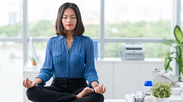 You can #meditate at your desk, at lunch or whenever you feel like you need it. Read up on some ways you can meditate at your desk and then try it out for yourself to see what a big difference it can make to your work life.