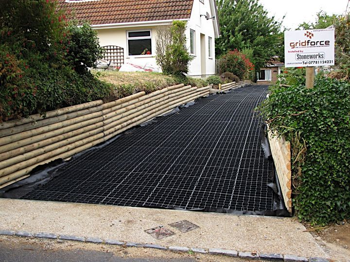 Weather And Waterproof Driveway Reinforcement Grids For A