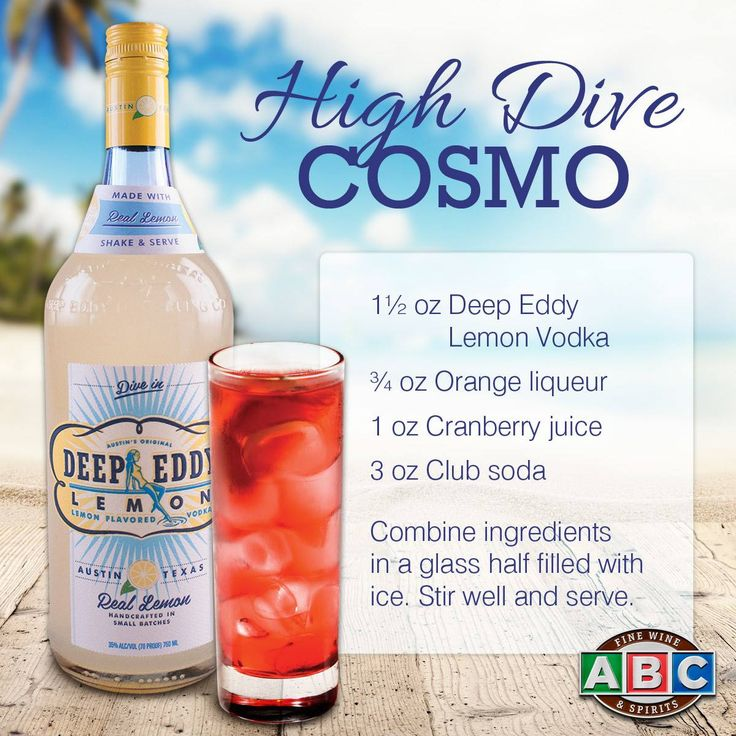 High Dive Cosmo featuring Deep Eddy Lemon Vodka