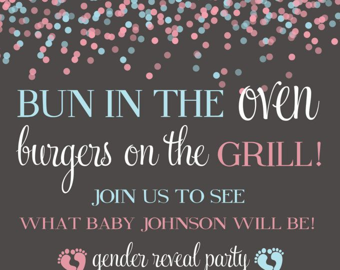 Best 25 Gender reveal party invitations ideas – Invitations for Gender Reveal Party