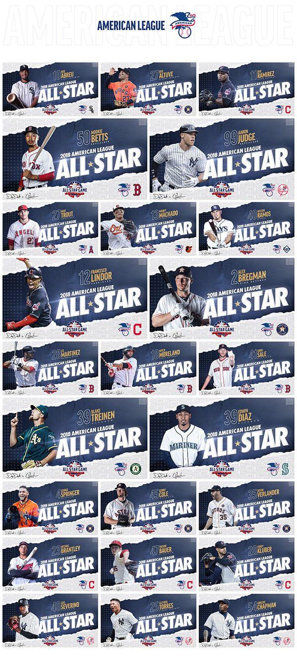 2018 Mlb All Star Game On Behance In 2020 Mlb All Star Team Photos