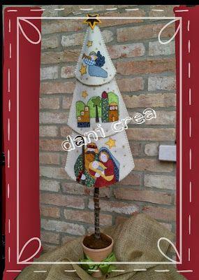 Il filo di mais di Chiara Gloria e Daniela: Cucito creativo : Albero di Natale