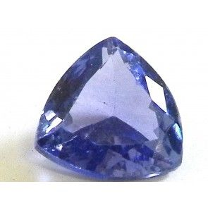 Tanzanite 1.475 ct trillion cut 7.6x7.6 mm