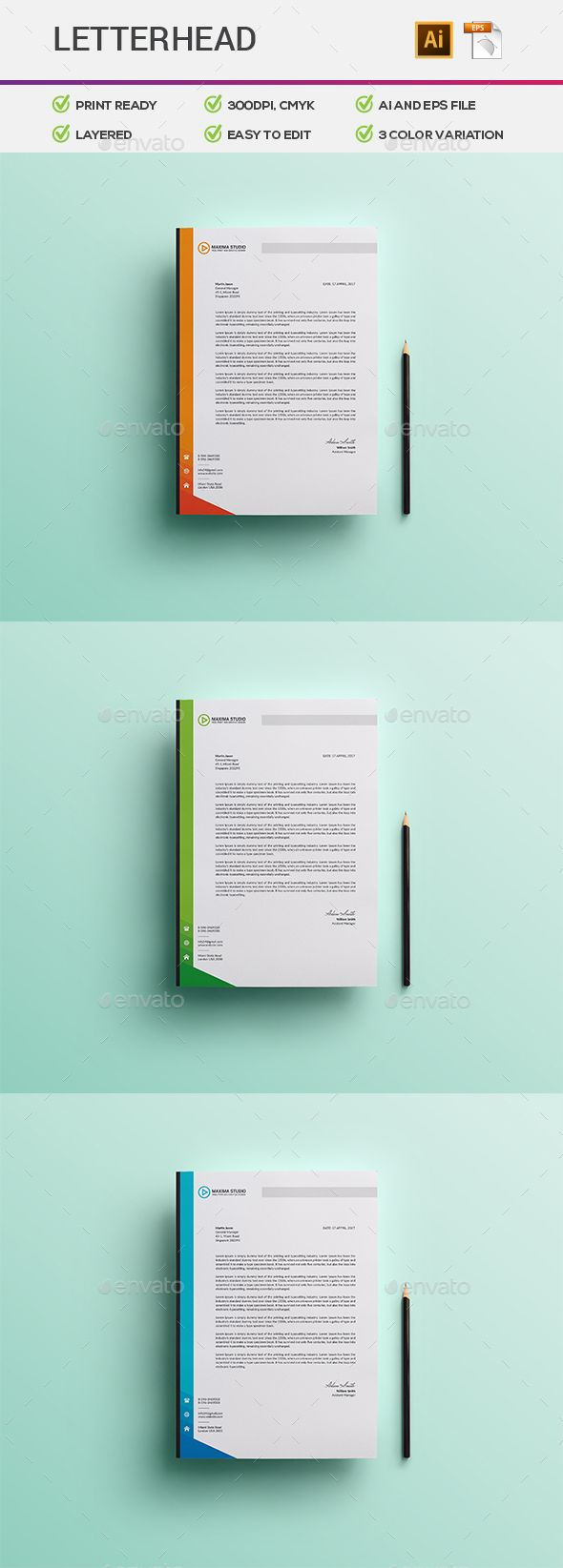 The 25 best company letterhead template ideas on pinterest letterhead spiritdancerdesigns Choice Image