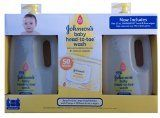 2 Pack #Johnson's Baby Head-Toe Wash 33.8 Oz and 25 Count Hand & Face Wipes Set Now Includes Two 25ct #Johnsons Hand & Face Wipes, Helps Wipe Away Over 95% Of Dir...