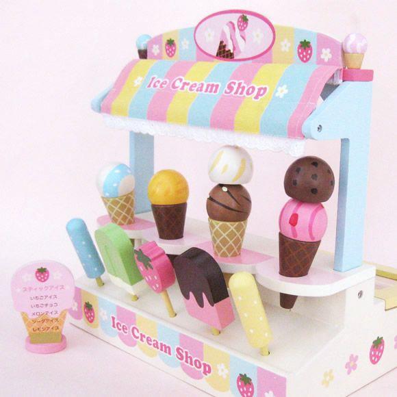 【楽天市場】\今だけプレゼント付き//野いちごままごと おもちゃ アイスクリーム ショップ木のおままごとセットサーバー付きアイスクリーム屋さん|アイス|木製ままごと|お店屋さんごっこ|マザーガーデン:マザーグースメイル 木製ままごと