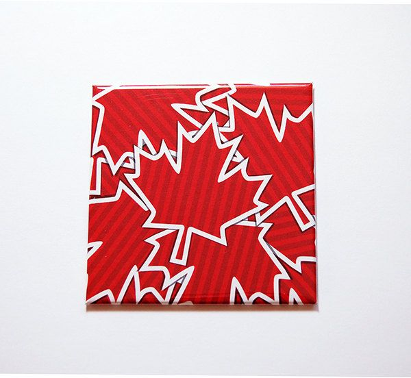 Canada Maple Leaf Magnet, Magnet, Canada 150th, Fridge magnet, Canada Day, Maple Leaf, Red, White, Canada's 150th birthday (7142) by KellysMagnets on Etsy