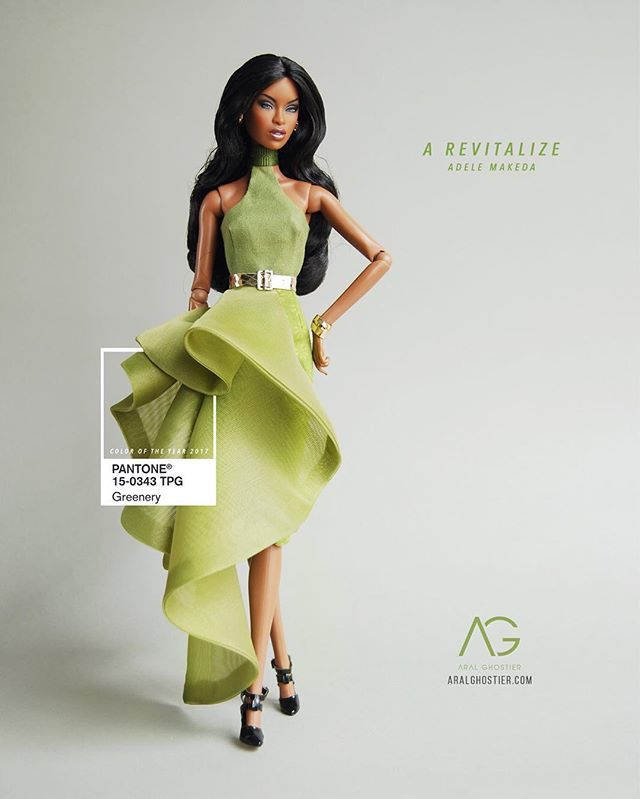 WEBSTA @ aralghostier - Moments of Ceres goddess 💚 New collection for a fresh start!  #Greenery #ColorOfTheYear #AdeleMakeda ARALGHOSTIER.COM #AralGhostier #FashionRoyalty #Resort2017 #SS2017 #IntegrityToys #Socialite #Designer #Spring2017 #Fashion #FashionPhotography #LookBook #Barbie #DollDress #Women #Fashionista #InstaDoll #Green  #Emerald #DollCollector #Balmain #Gucci #Valentino #InstaStyle #ToyCollector #Dollstagram #2017