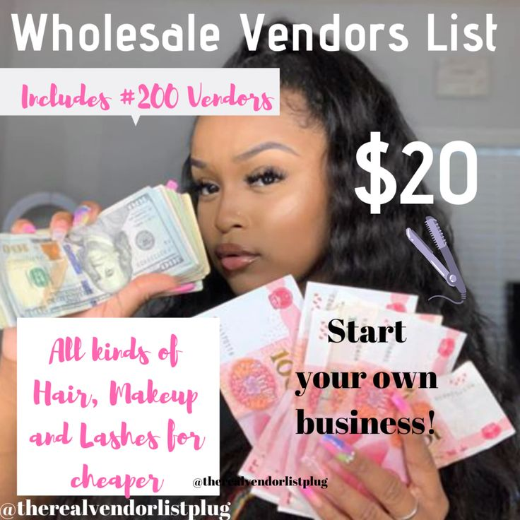 Wholesale Hair, Makeup, and Lashes Vendors Lists by The