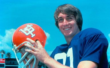 Cris Collinsworth, Florida Gator all-American 1980.  As a senior in 1980, Collinsworth was a member of the Gators team that posted the biggest one-year turnaround in the history of NCAA Division I football—from 0–10–1 in 1979 to an 8–4 bowl team in 1980