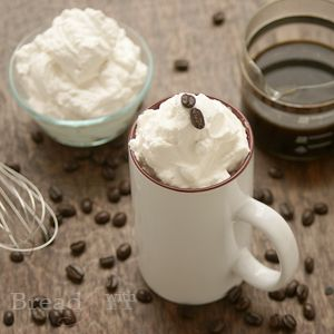 This basic Con Panna Espresso Recipe is a perfect sipping drink with some peace & quiet and a good book. Free espresso mix printable guide available too.