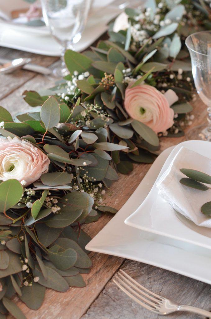 Eukalyptus-Hochzeit – Teil 2: Tischgirlande selber binden