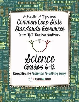 FREE! Loaded with tips & free resources: Common Core Science: Free Back-to-School eBook for Grades 6-12