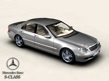 Mercedes S-Class 3D Model- Accurate low poly Mercedes S-Class model with interior, fully textured. Previews rendered in XSI.Built for architectural visualisation or game use. Textures for different body and interior colors included. Psd files for the textures also included. - #3D_model #Sedan