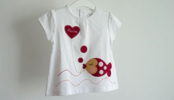 """Camiseta """"besuguilla"""" / punt a punt - Artesanio"""