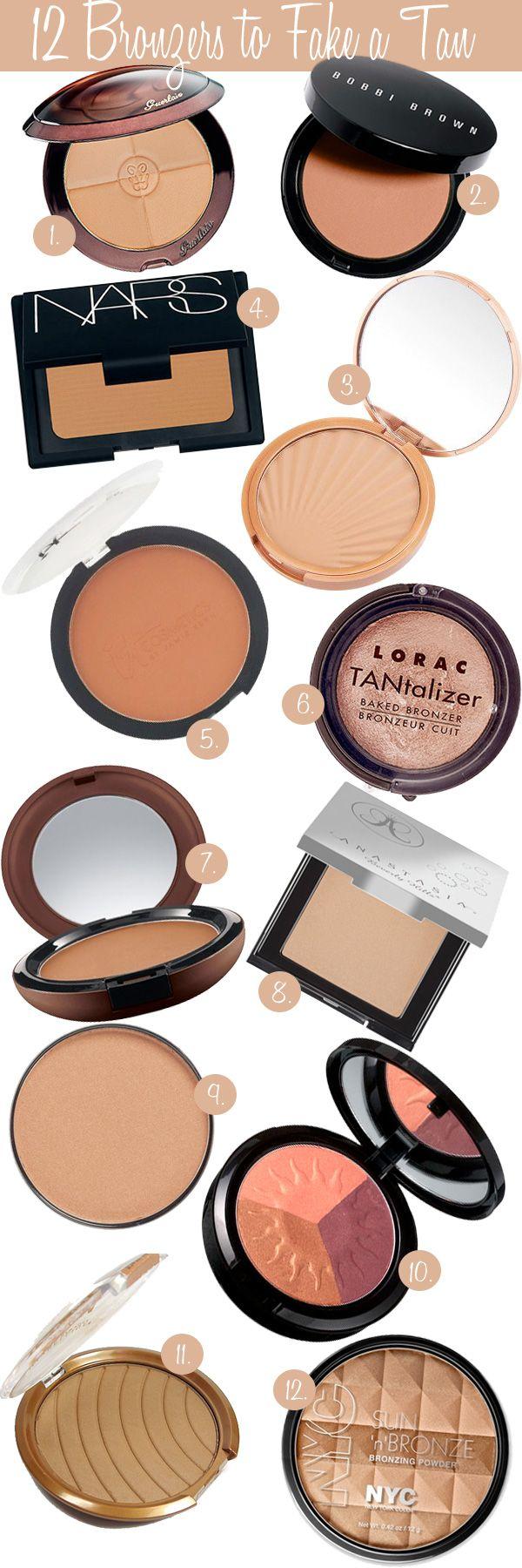 Best Bronzers to Fake a Tan #bronzer