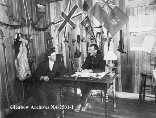 Inside the North West Mounted Police Station, Drumheller, Alberta.