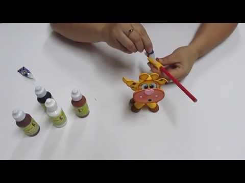DIY Lapiz Pluma Jirafita Filigrana en Foami, Goma Eva, Microporoso, Easy Crafts - YouTube