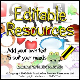 More Information  - Editable Resources on CD $