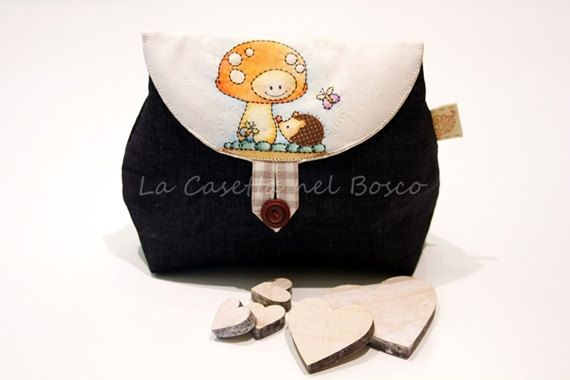 Muddy and woodland friends  Handmade denim di LaCasettaNelBosco, €41.99