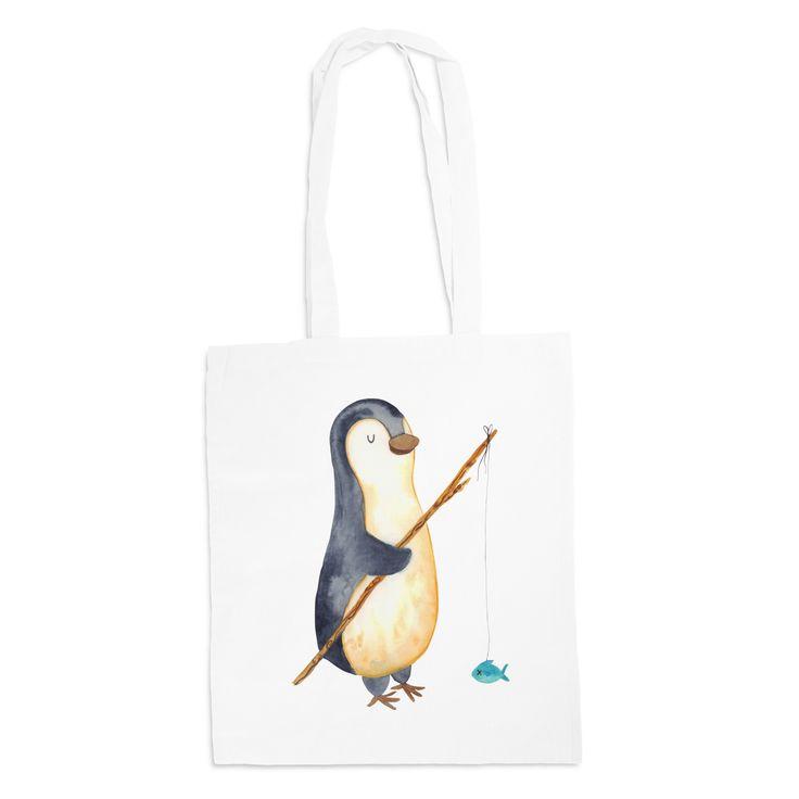 Tragetasche Pinguin Angeler aus Kunstfaser  Natur - Das Original von Mr. & Mrs. Panda.  Diese wunderschöne weiße Tragetasche von Mr. & Mrs. Panda im Jutebeutel Style ist wirklich etwas ganz Besonderes. Mit unseren Motiven und Sprüchen kannst du auf eine ganz besondere Art und Weise dein Lebensgefühl ausdrücken.    Über unser Motiv Pinguin Angeler  ##MOTIVES_DESCRIPTION##    Verwendete Materialien  Die verwendete sehr hochwertige Kunstfaser ist langlebig, strapazierfähig und abwaschbar und…