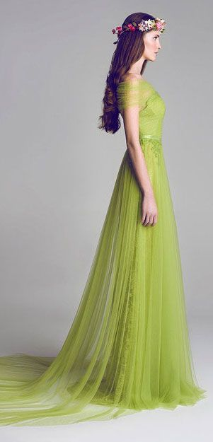 Chiffon Lace & Tulle Embellished Gown by Al Fahim of UAE