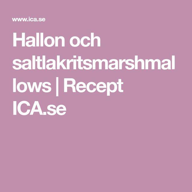 Hallon och saltlakritsmarshmallows | Recept ICA.se