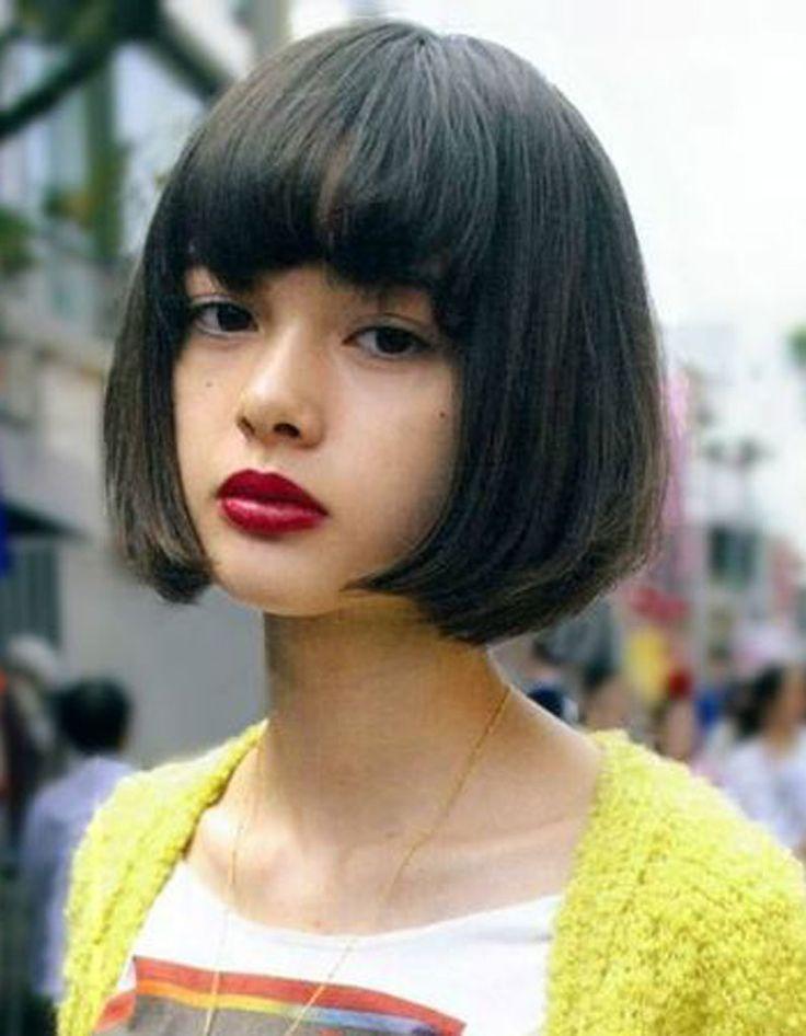 Coiffure visage rond frange  - 40 coiffures canon pour les visages ronds - Elle