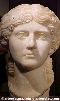 hermoso retrato de dama romana. España.